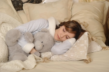 sleeping with stuffed animals