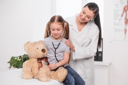 Teddy Bears Benefit Children Visiting the Doctor