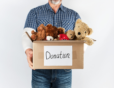 Donation box with Stuffed toys