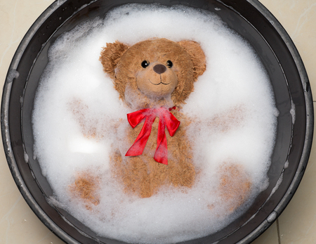 Teddy Bear in a Bath