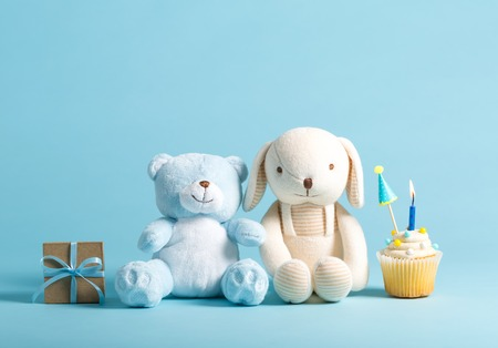 Stuffed Animals with a Cupcake