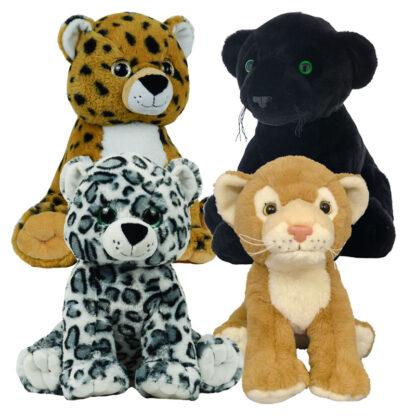 African Safari Stuffable Animal 4 Pack