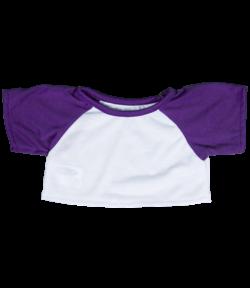 Purple Baseball T-Shirt for Stuffed Animals