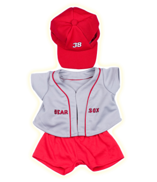 bear sox baseball uniform for stuffed animals