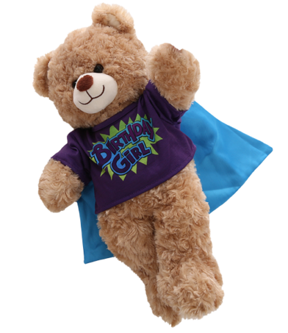 Purple Birthday T-shirt for Stuffed Animals