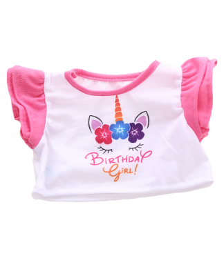 Unicorn Birthday Girl T-Shirt for Stuffed Animals