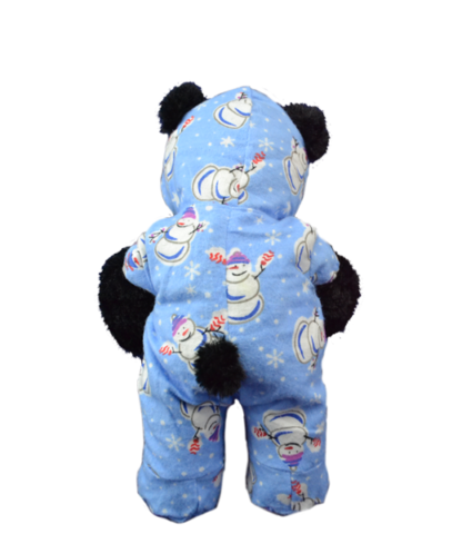 Blue Snowman Footie PJs for Stuffed Animals