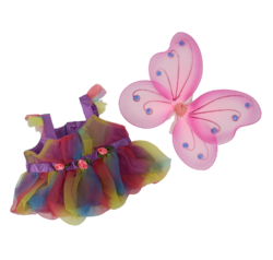 Fairy Outfit with Butterfly Wings for Stuffed Animals