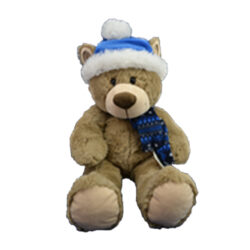 Blue Christmas Bear
