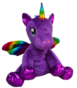 Purple Winged Unicorn Stuffable Animal