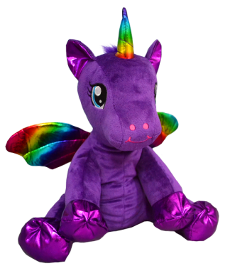 Purple Winged Unicorn Stuffable Animal