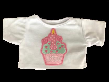 1st Birthday Tee Shirt for Stuffed Animals