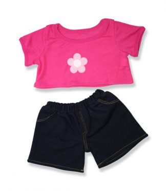 Pink Daisy Outfit for Stuffed Animals
