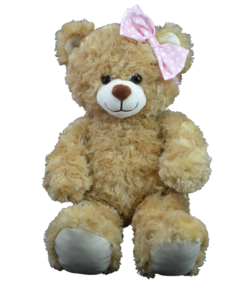 Pink Polka Dot Bow for Stuffed Animals