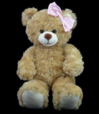 Pink Polka Dot Bow for Stuffed Animals