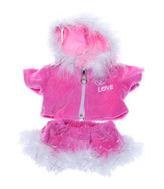Pink Love Outfit for Stuffed Animals