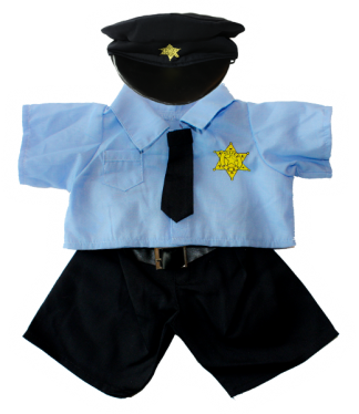 "Police Outfit for 16"" Stuffed Animals"