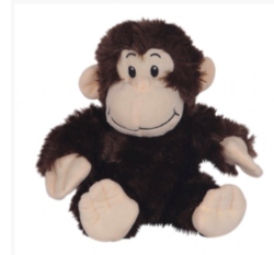 "8"" Brown Monkey Stuffable Animal"