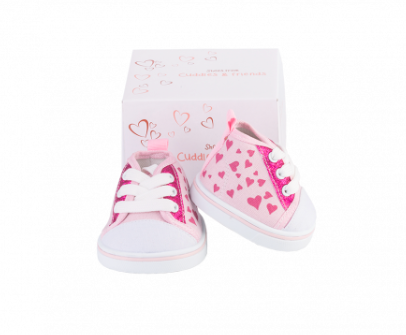 Pink Heart Shoes for Stuffed Animals