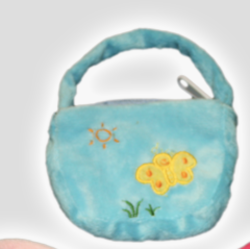 Blue Purse for Stuffed Animals