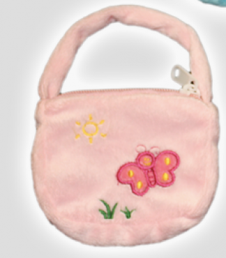 Light Pink Purse for Stuffed Animals