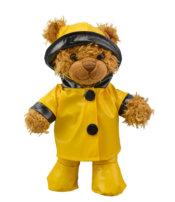 "Yellow Rain Slicker for 8"" Stuffed Animals"