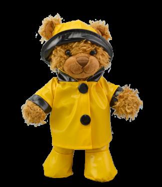 """Yellow Rain Slicker for 8"""" Stuffed Animals"""