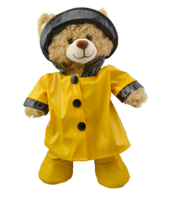 "Yellow Rain Outfit for 16"" Stuffed Animals"