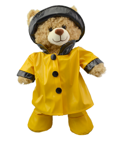 """Yellow Rain Outfit for 16"""" Stuffed Animals"""