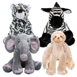 4 Pack of Jungle Stuffable Animal