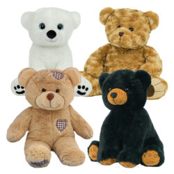 "Teddy Bear 4 Pack of 16"" Stuffable Animals"