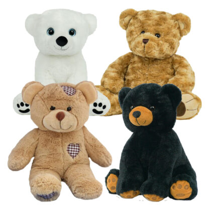"""Teddy Bear 4 Pack of 16"""" Stuffable Animals"""