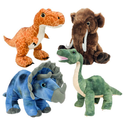 """16"""" Jurassic Four Pack of Stuffable Animals"""
