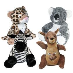 Zoo Animal 4 Pack of Stuffable Animals
