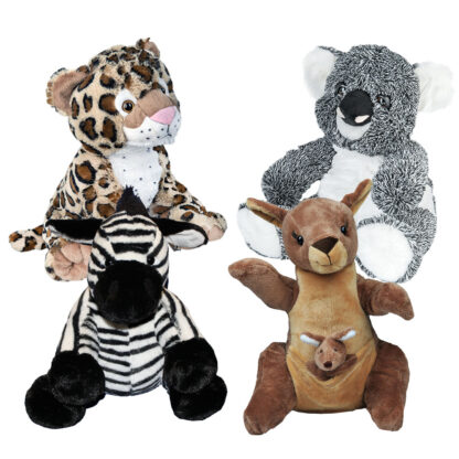 Zoo Animal 4 Pack of Stuffable Animals