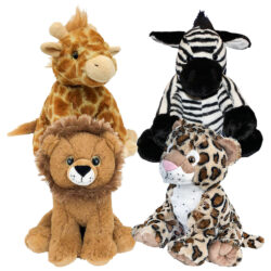 "8"" Africa Animals Four Pack"