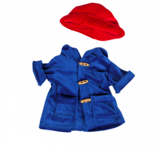 Blue Coat and Red Hat for Stuffed Animals